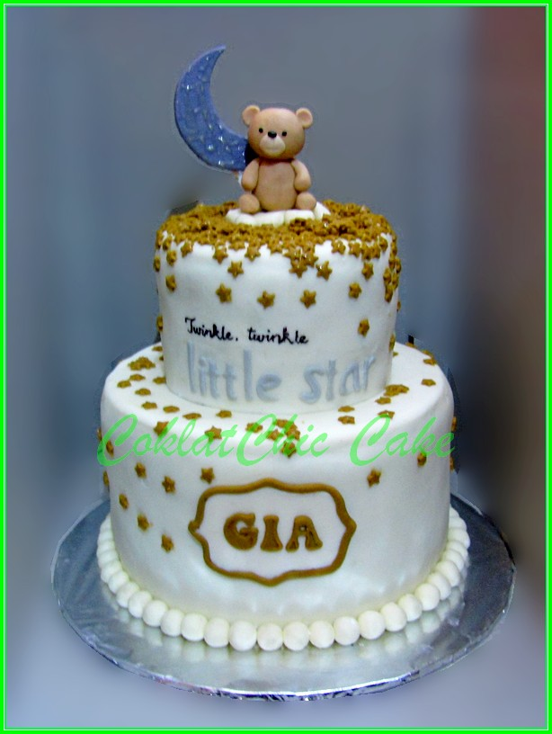 Cake Bear Moon Twinkle Little Star GIA 18x2 cm + 12 cm