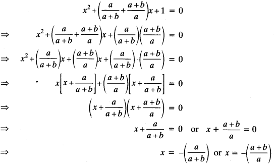 Quadratic Equations Chapter Wise Important Questions Class 10 Mathematics 10