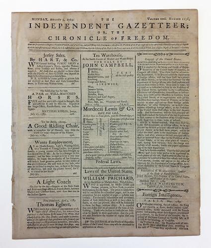 Newspaper, The Independent Gazetteer
