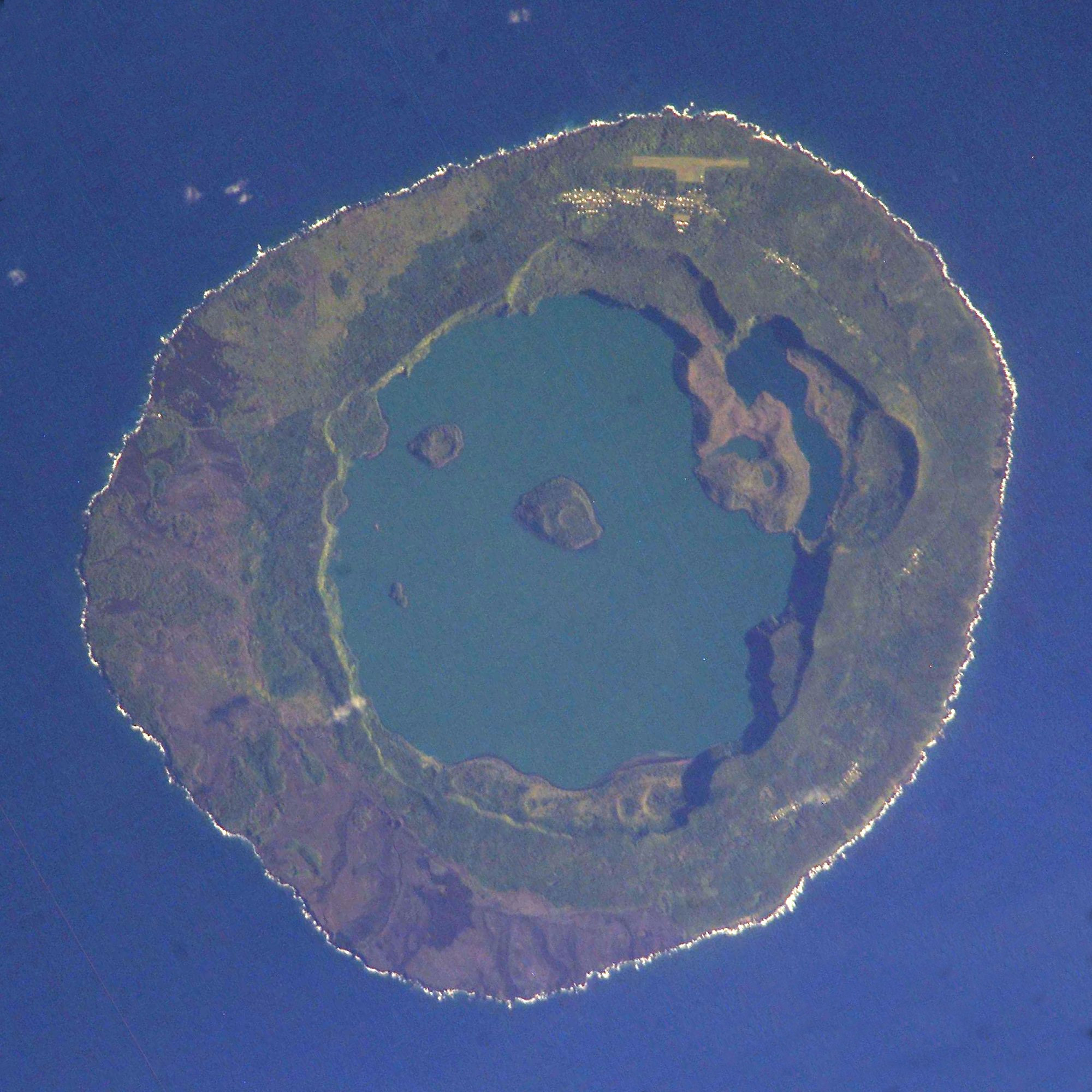 Niuafo-ou as photographed from space on March 19, 2005.