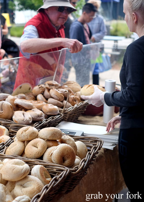Breads and bagels by Bread Nerds at Southside Farmers Market in Canberra