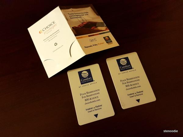Comfort Inn & Suites Saint-Nicolas, Quebec key cards