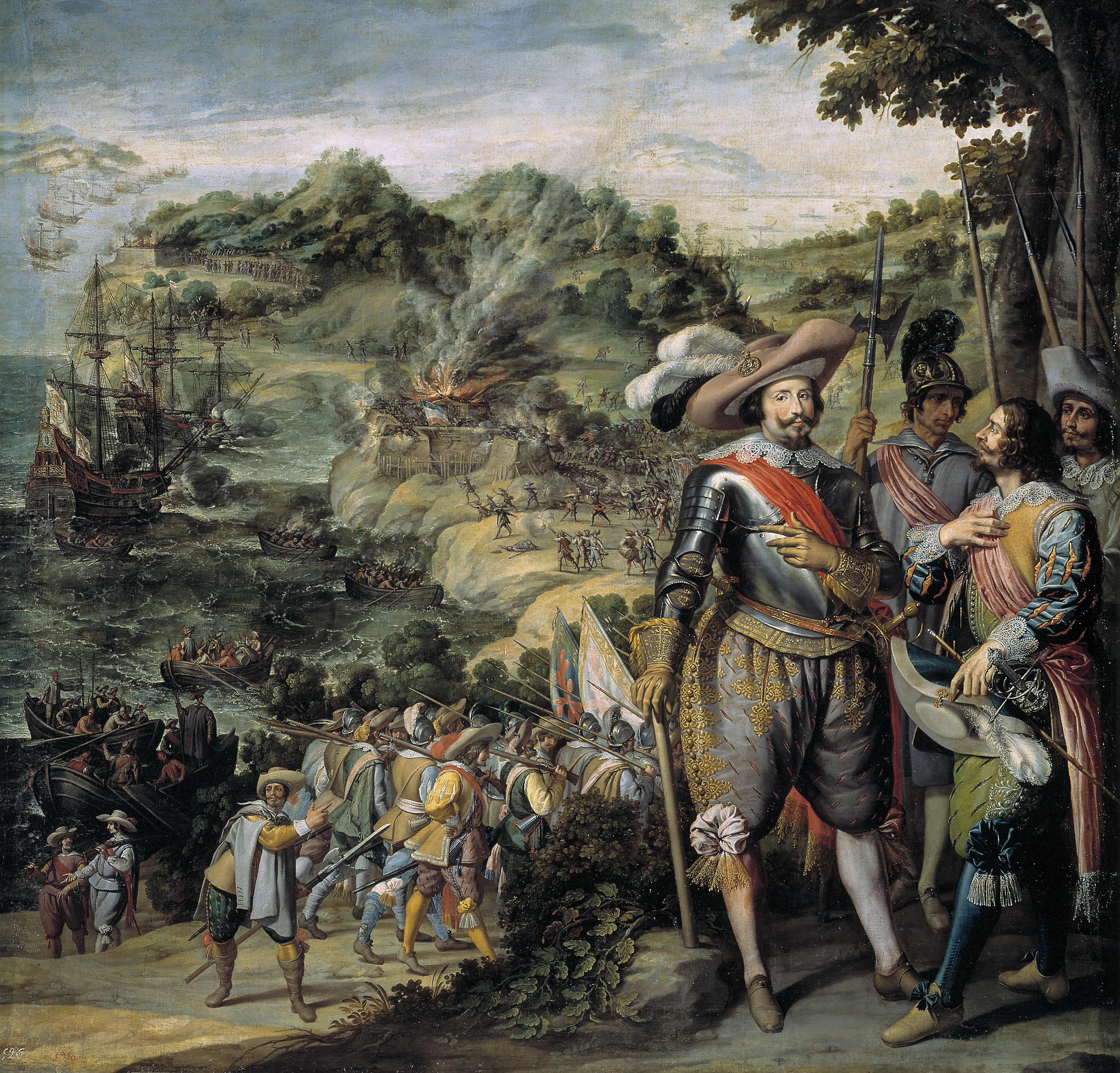 The Spanish capture of Saint Kitts by Don Fadrique de Toledo in 1629.