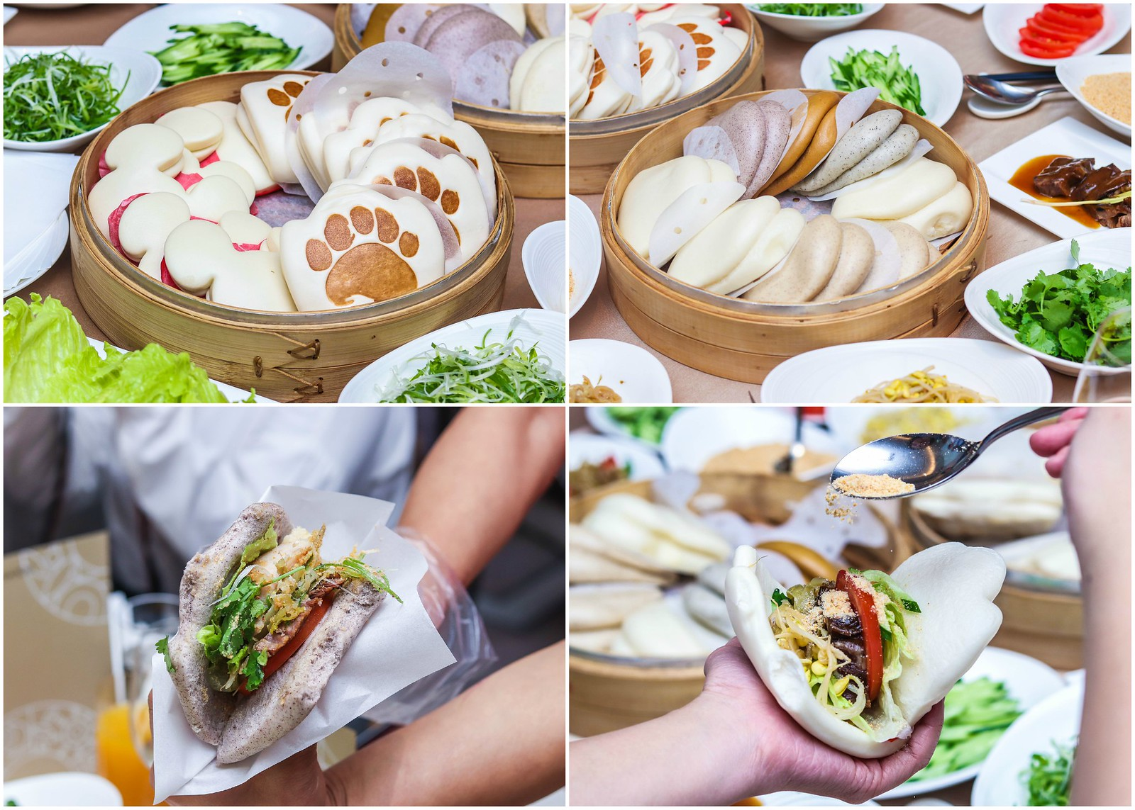 guabao dinner collage