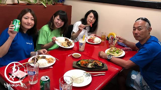 新しくなってたMJレストランでディナー♪ みほさんが食べてたチキンがピンク色でしたw