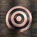 Target Shield on Brass Belt Buckle