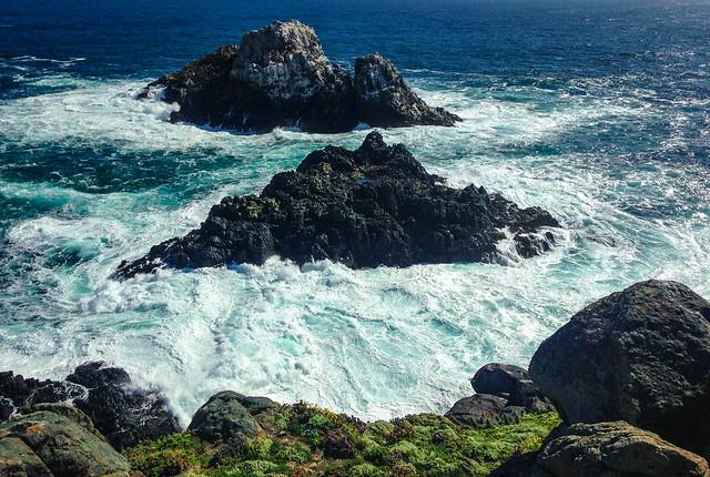Rocks, Waves and Sea Lions