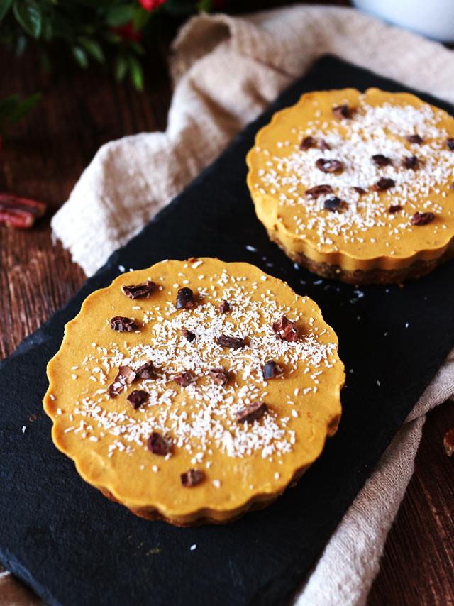 迷你椰香南瓜派 (全素,無麵粉,無堅果) mini-coconut-pumpkin-pie (4)