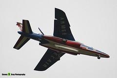E130 F-TERP 8 - E130- Patrouille de France - French Air Force - Dassault-Dornier Alpha Jet A - RIAT 2008 Fairford - 070711 - Steven Gray - IMG_7135