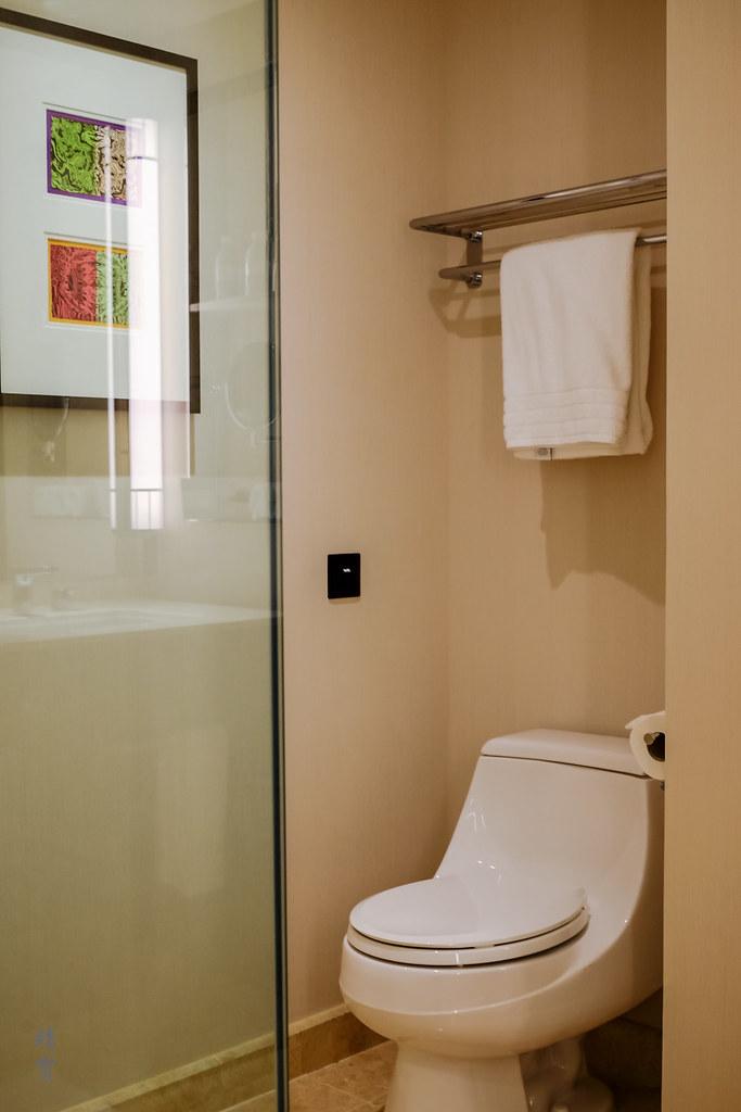 Toilet in the corner