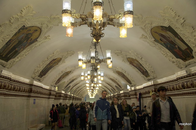 Moscow-At the Kiyevskaya metro station II.