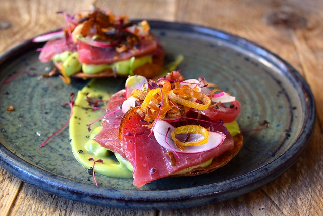 Tuna Tostadas at Chicama, Chelsea