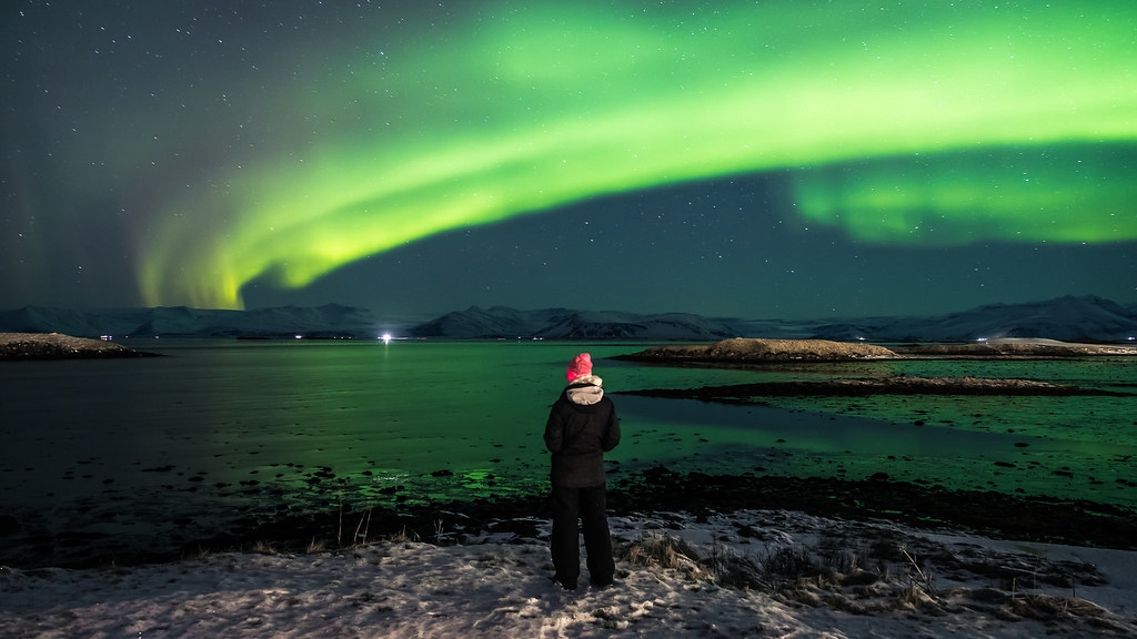 Enjoining the Northern Lights, Hofn, Iceland picture