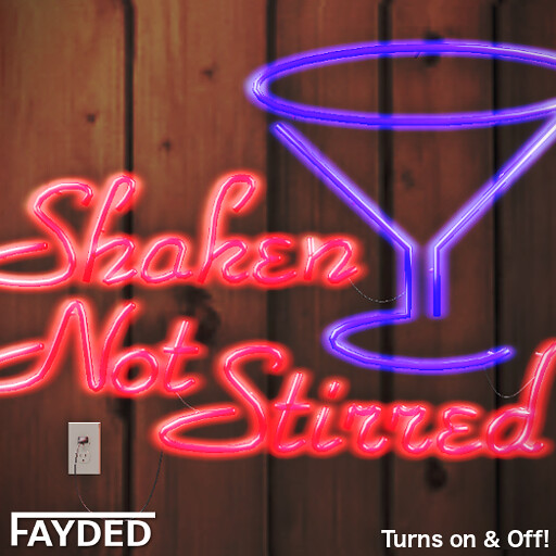 FAYDED - Shaken Not Stirred Neon Sign - TeleportHub.com Live!