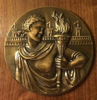 Dennis Tucker Numismatic Ambassador Award plaque closeup