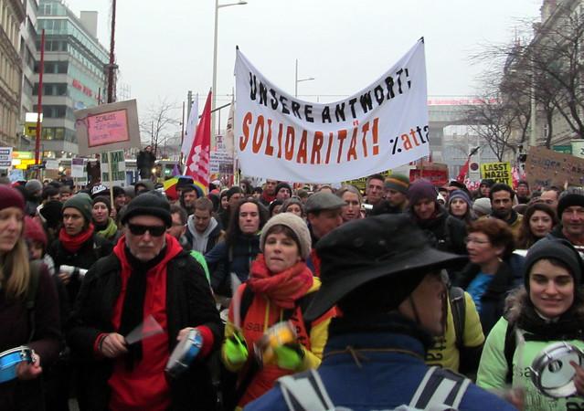 13.1.2018 Demo gegen Schwarz-Blau