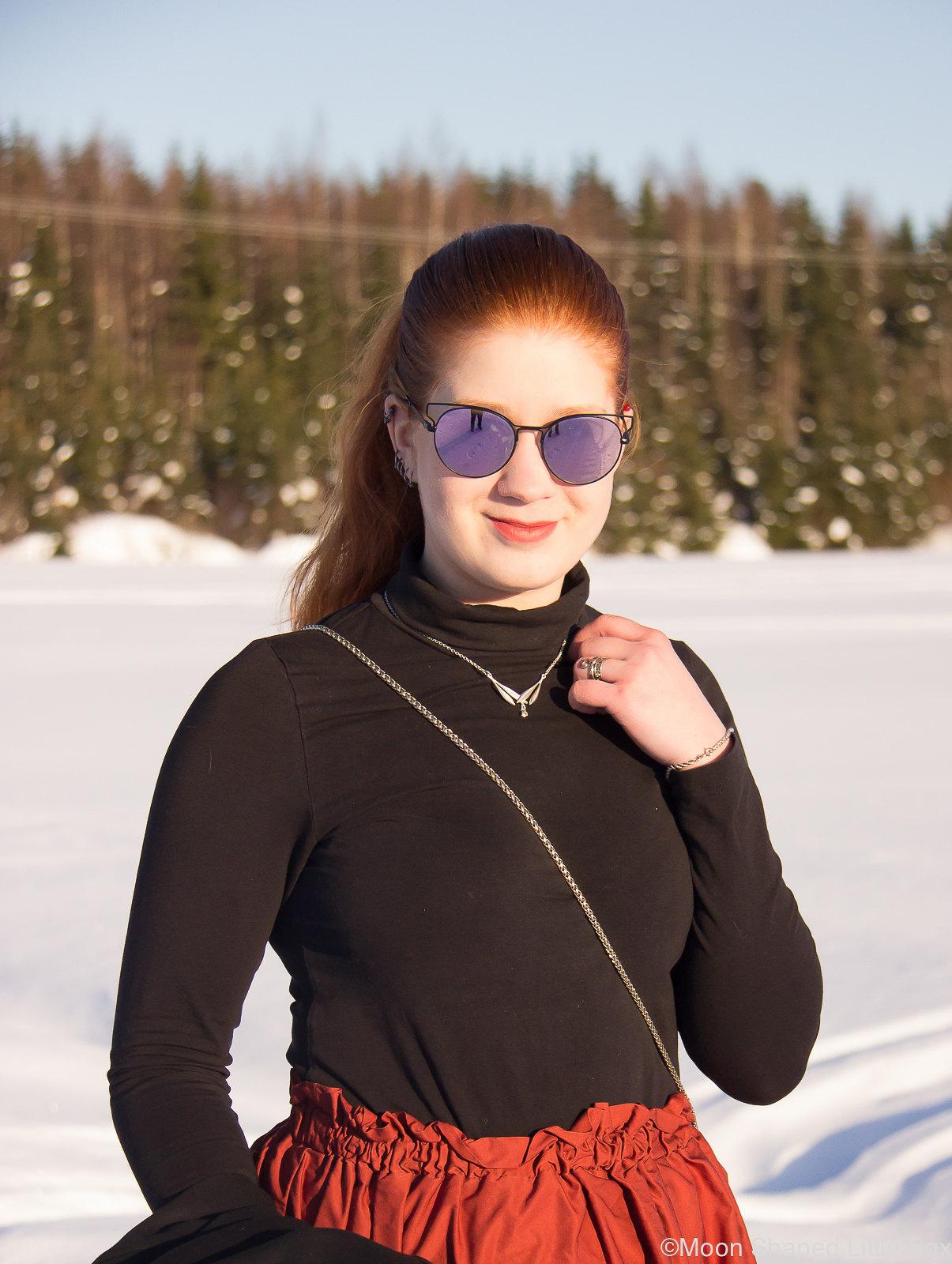 Kalevala Korun Kielo- koru, tyylibloggaaja, poolopaita