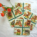 """Quilted Coasters (4) Set #1  $20  Spring Babies  4.5""""  Click here for more info"""