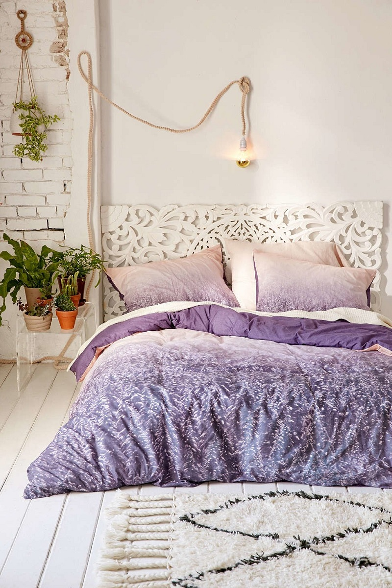 Assembly Home Collection Urban Outfitters First Mist Purple Duvet Cover