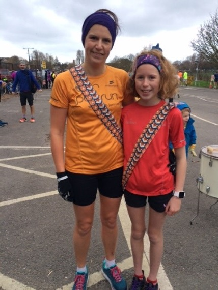 Stella and Charlotte with the 'under11 sashes'