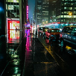 Sixth Avenue in a downpour
