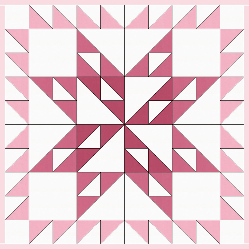 36 inch quilt idea with block outline
