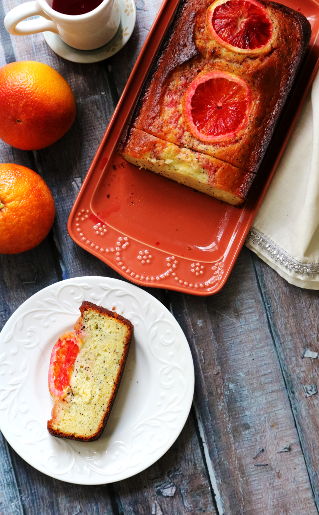 Blood Orange Greek Yogurt Poppy Seed Breakfast Cake