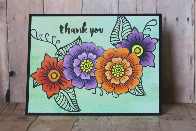 Bold Floral Thank You