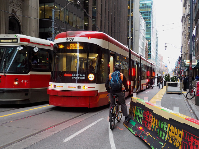 Toronto: Cycling on King Street