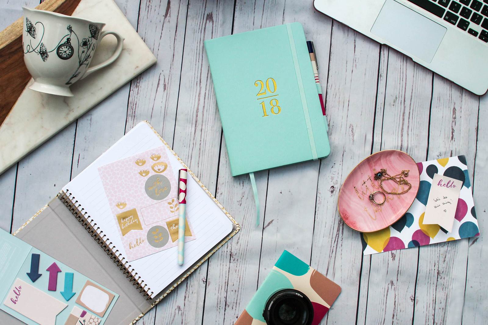 2018 Blogging Goals The Little Things Busy B Stationery Design Diary Planner