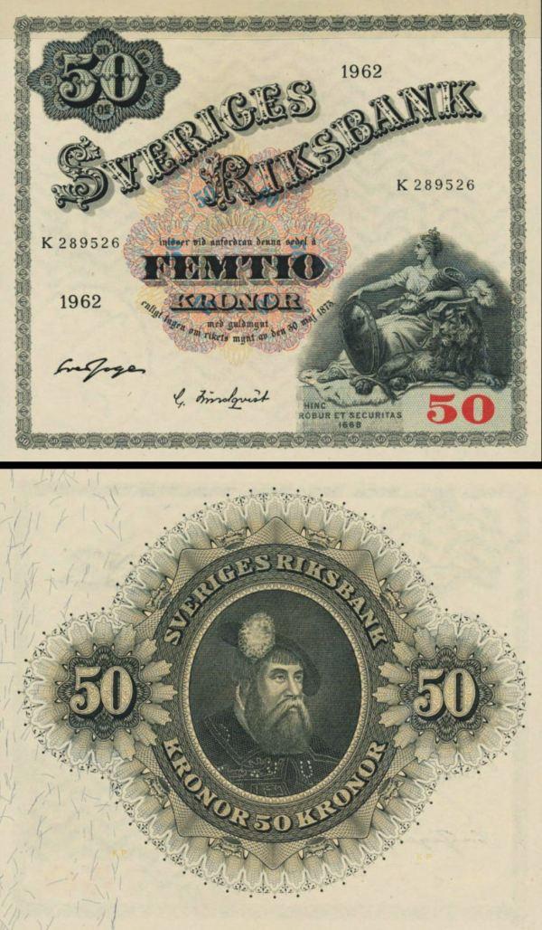 50 Korún Švédsko 1962, P47d