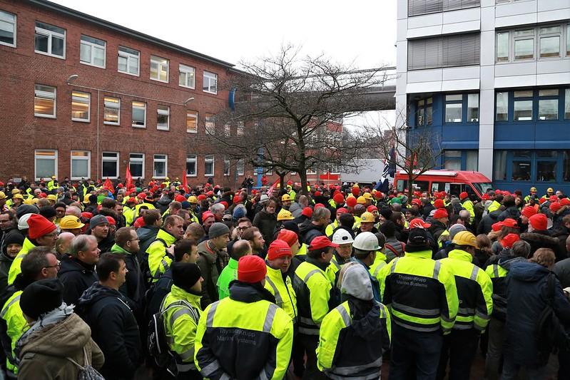 Warnstreik am 12.1.2018 in Kiel und Neumünster