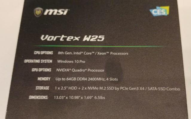 MSI Vortex W25