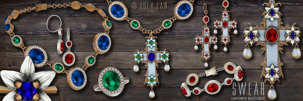 L&B@UBER:JAN Swear Halo Oval Vintage Jewelry Collection