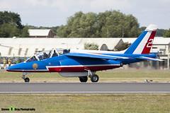 E114 2 F-TERR - E114 - Patrouille de France - French Air Force - Dassault-Dornier Alpha Jet E - RIAT 2010 Fairford - Steven Gray - IMG_9766