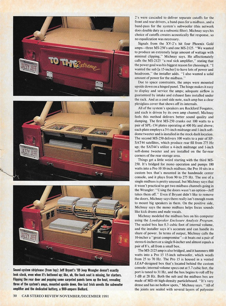 Bryant Car Stereo >> Jeff Bryant 1989 Jeep Wrangler 1991 Csr