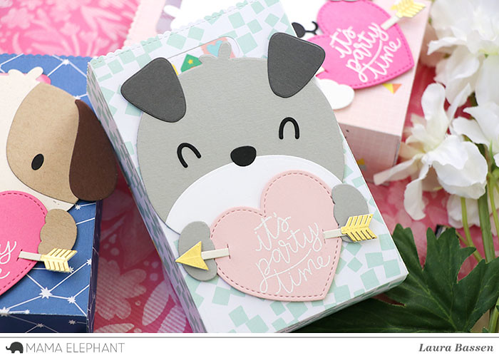 Mama Elephant-Scripty Bday, Favor Bag Accessories-Dog & Love