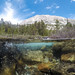 Small photo of Half underwater, half above water - Lundy Canyon