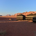 3. Nuestras jaimas en Wadi Rum al atardecer