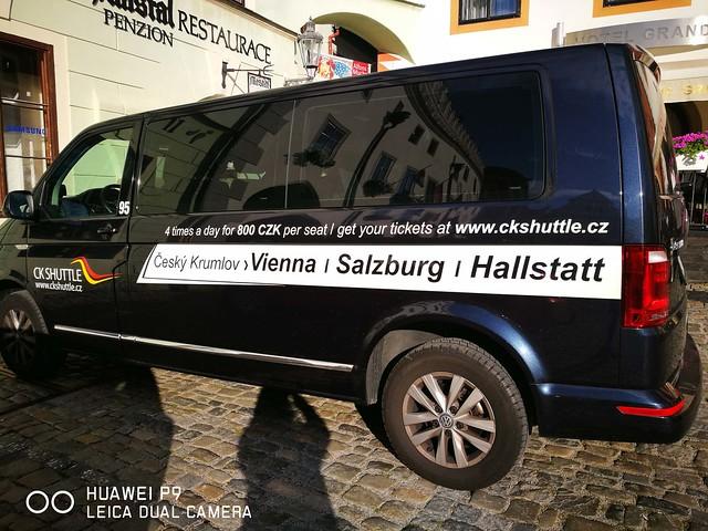 CK Shuttle Hallstatt to Prague