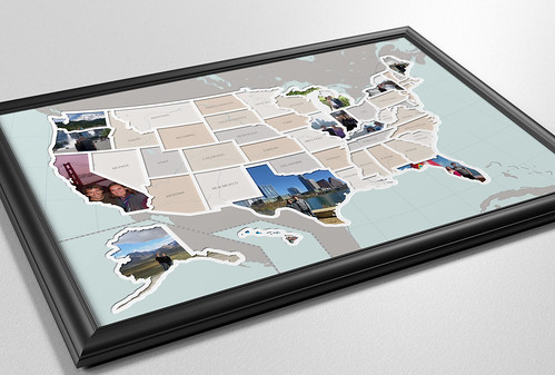 United States Photo Mat by Memorable Maps