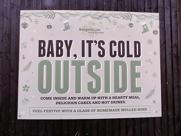 baby it's cold outside serpentine bar