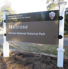 Melrose Estate Sign (Natchez National Historical Park, Mississippi)