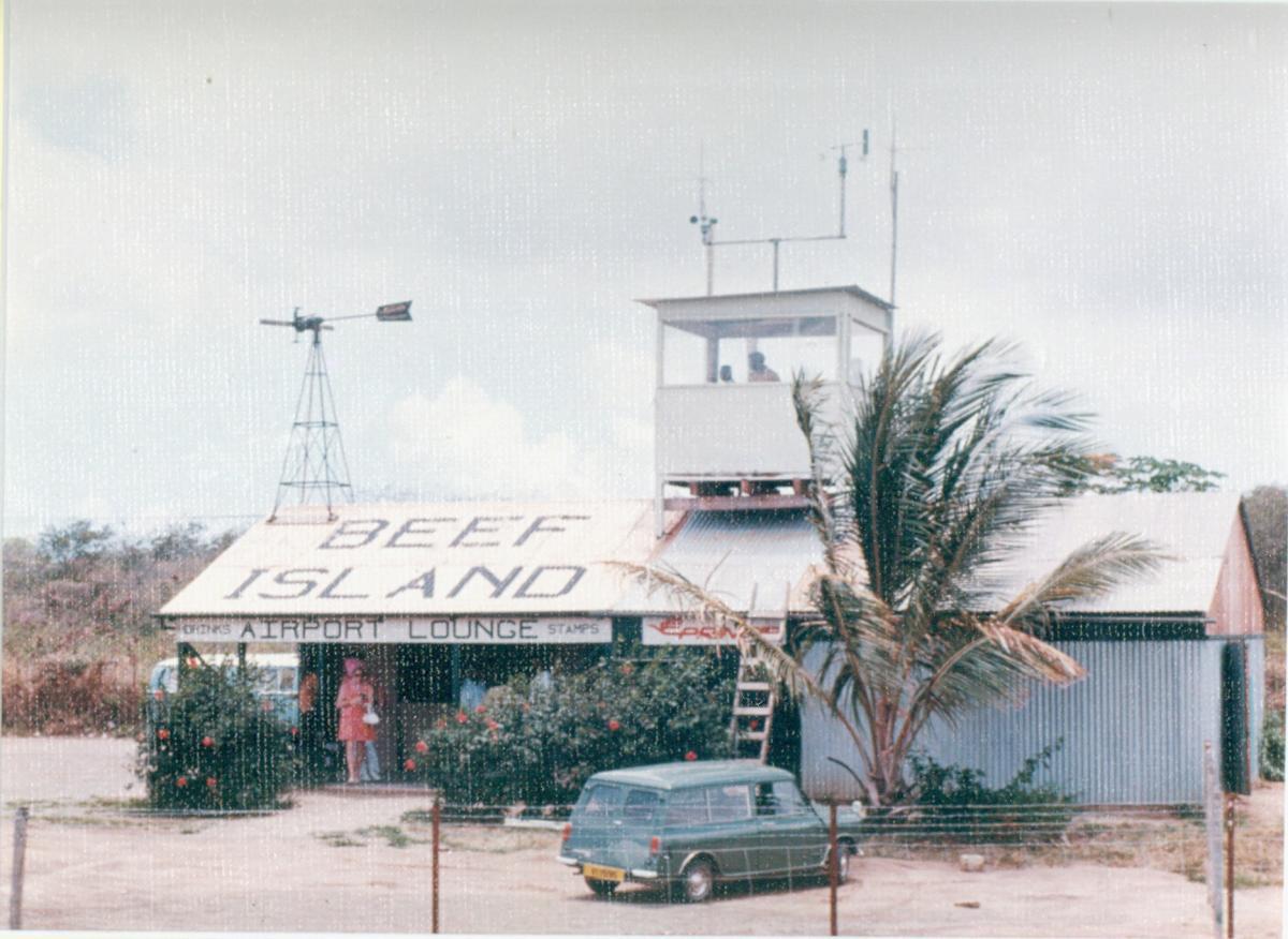 Airport Terminal at Beef Island, BVI.