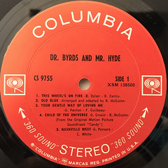 THE BYRDS:DR. BYRDS & MR. HYDE(LABEL SIDE-A)