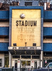 Facade Of Stadium Motor Lodge; Bronx, New York