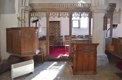 pulpit, parclose screen, reading desk