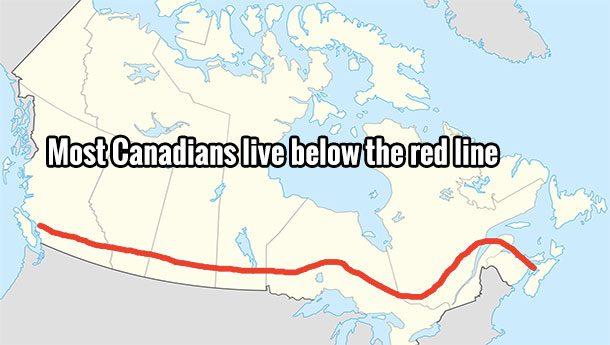 Canadienses frontera
