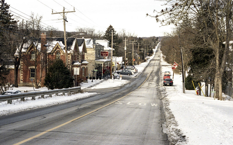 Downtown Cheltanham after the Snow