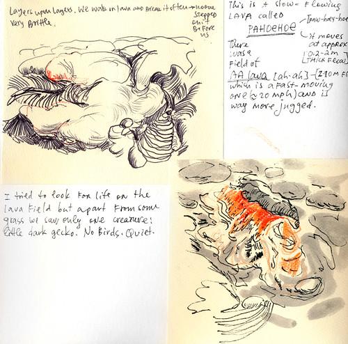 Sketchbook #111: Trip to Hawaii - Volcano